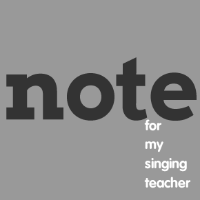Note for My Singing Teacher – Amy Barnard